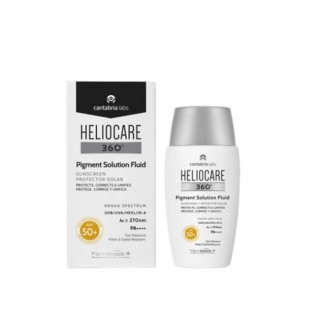 HELIOCARE 360¦ PIGMENT SOLUTION FLUID PROTECTOR SOLAR PROTEGE CORRIGE Y UNIFICA SPF50+ 50 ML