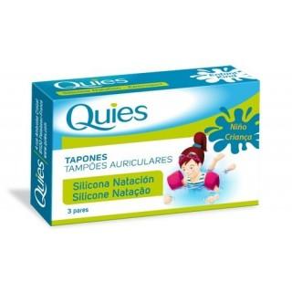 QUIES TAPONES OIDOS NATACION SILICONA 6 U