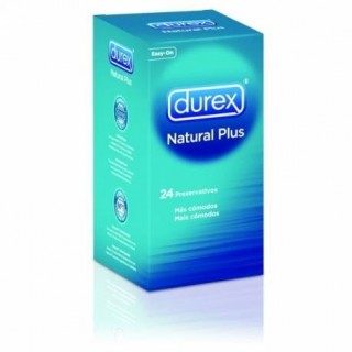 DUREX NATURAL PLUS EASY ON PRESERVATIVOS 24 U