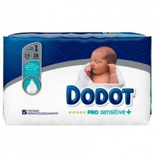 PAÑAL INFANTIL DODOT PRO SENSITIVE T- 1 2-5 KG 38 U