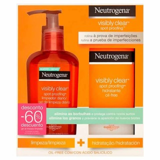 PACK NEUTROGENA VISIBLY CLEAR SPOT PROOFING LIMPIADOR 200 ML + HIDRATANTE 50 ML